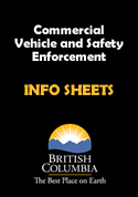 Commercial Vehicle Safety and Enforcement Division INFO SHEETS - PDF